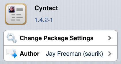 Cyntact tweak iPhone
