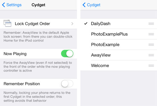 iOS 7 jailbreak Twitter trending lock screen setup