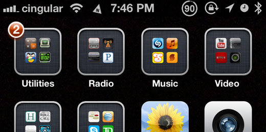 iphone status bar add a compass to the iphone status bar the iphone faq 5855