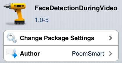 FaceDetectionDuringVideo tweak Cydia iOS