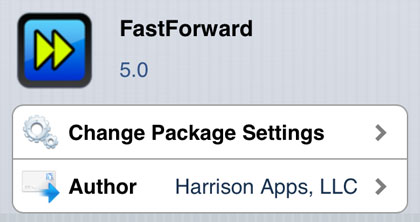 FastForward tweak Cydia iOS