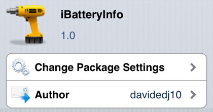 iBatteryInfo tweak Cydia iOS
