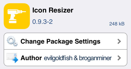 iOS 7 jailbreak Icon Resizer