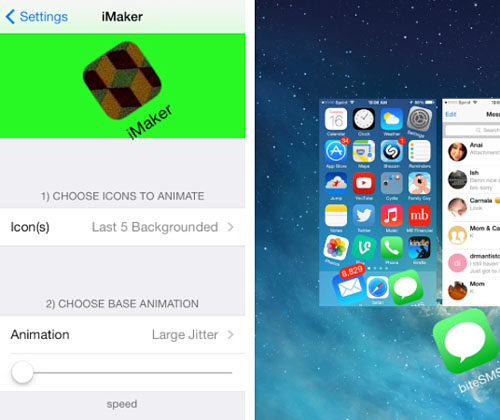 iOS 7 jailbreak animate home screen icons