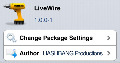 LiveWire tweak Cydia iOS