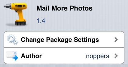 Mail More Photos iPhone