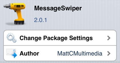 MessageSwiper tweak Cydia iOS
