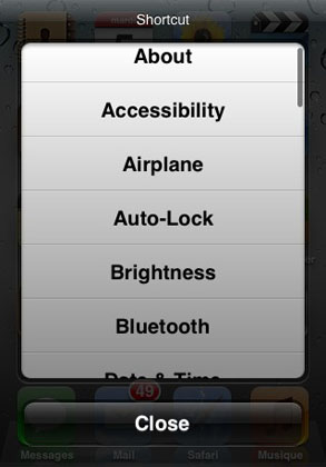 MultiShortcut tweak Cydia iOS