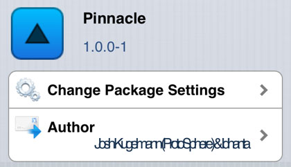 Pinnacle tweak Cydia iOS