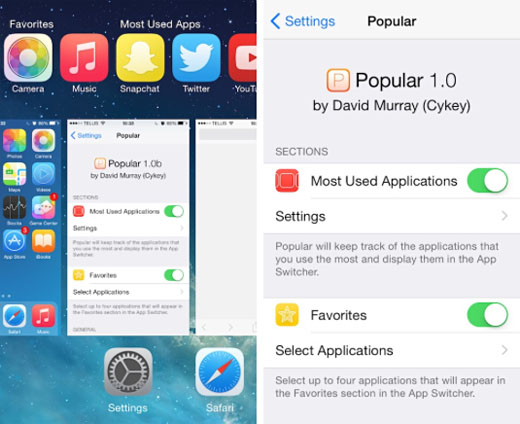 iOS 8 app switcher tweak