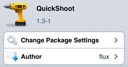 QuickShoot tweak Cydia iOS