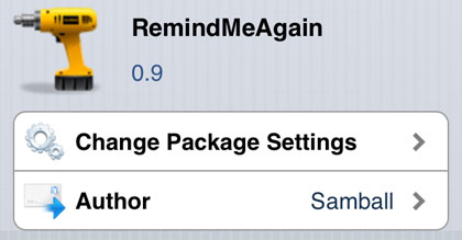 RemindMeAgain tweak Cydia iOS