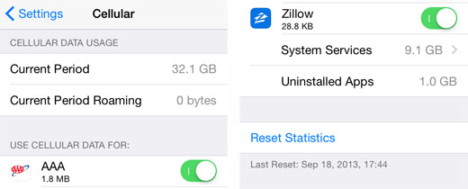 iOS 8 reset stats 1