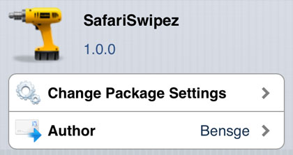 SafariSwipez tweak Safari gestures