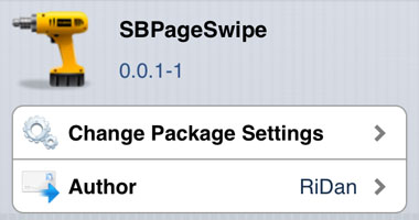 SBPageSwipe tweak Cydia iOS