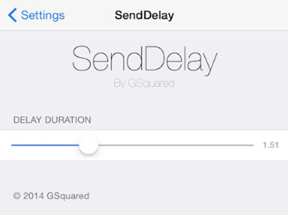 iOS 8.1 jailbreak SendDelay stop send