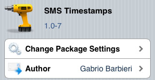 SMS Timestamps tweak