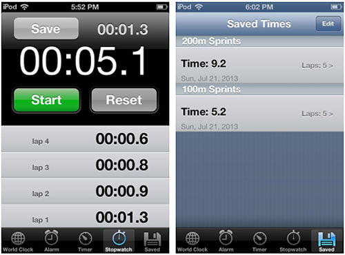 How to Save iOS Clock Stopwatch Times | The iPhone FAQ