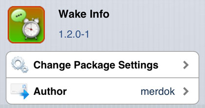 Wake Info tweak Cydia iOS
