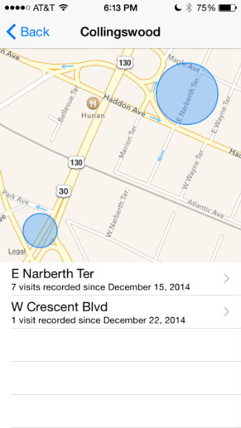 How to view frequent locations on your iPhone.