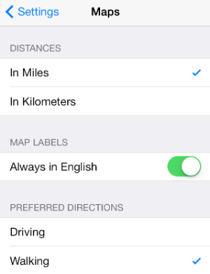 iOS 7 Maps Tricks