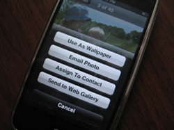 iphone web gallery feature comes without update