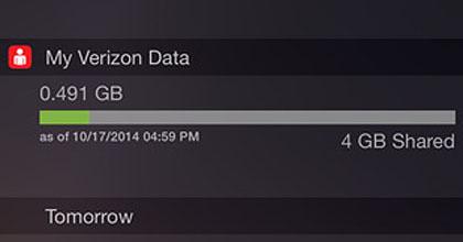 Get the Verizon Data Usage Widget for iOS 8   The iPhone FAQ
