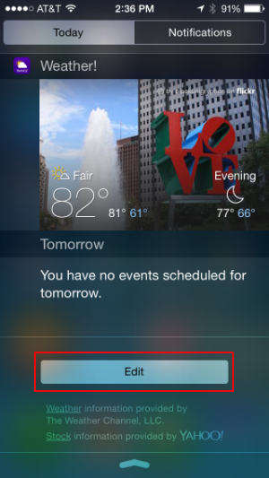How to add widgets to Notification Center in iOS 8