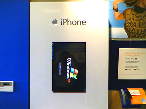 iphone display running windows xp