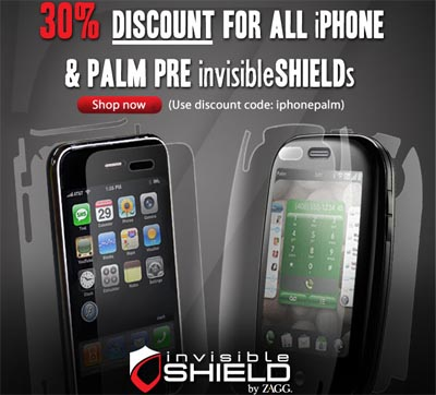zagg invisibleshield june 2009 sale