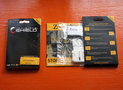 ZAGG invisibleSHIELD iPhone 5 photo package